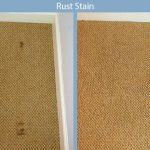 rust stain carpet disaster