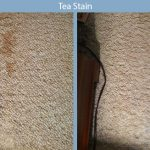 tea stain carpet disaster